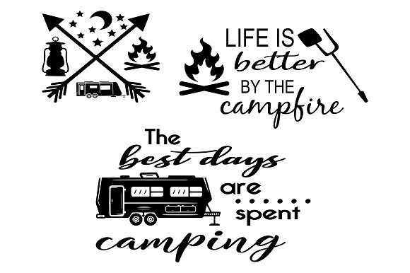 Camping Bundle Graphic Crafts By Family Creations