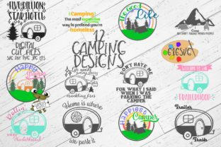 Camping Bundle With 12 Designs Svg Graphic By 616svg Creative