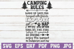 Download Free Camping Rules Cut File Graphic By Mintymarshmallows Creative for Cricut Explore, Silhouette and other cutting machines.