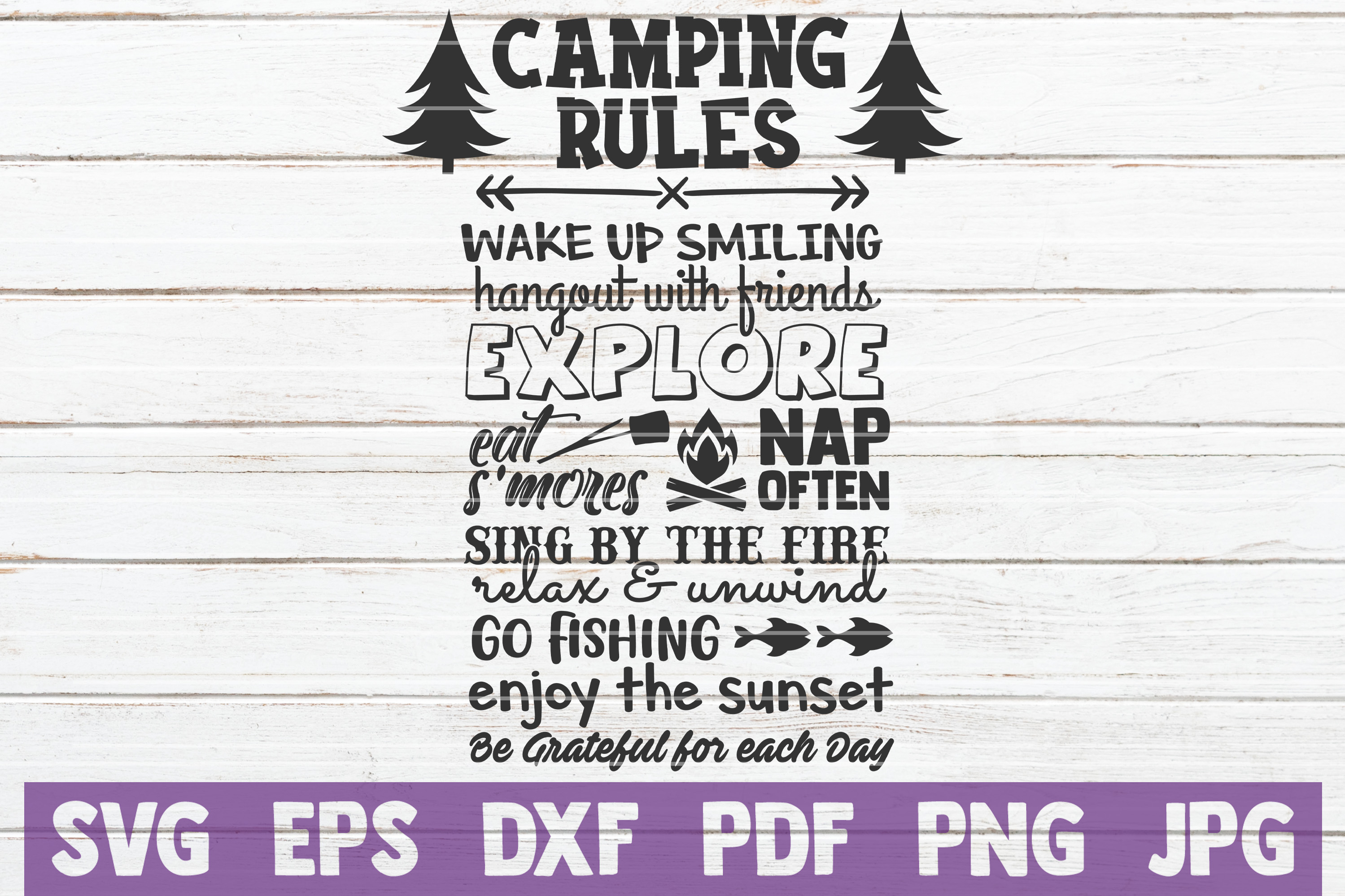Download Free Camping Rules Svg Cut File Grafico Por Mintymarshmallows for Cricut Explore, Silhouette and other cutting machines.