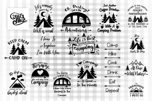 Download Free Camping Bundle Graphic By Illustrator Guru Creative Fabrica for Cricut Explore, Silhouette and other cutting machines.