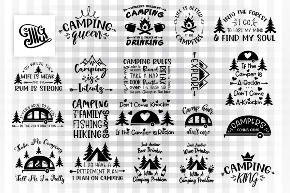 Camping Svg Bundle Graphic By Illustrator Guru