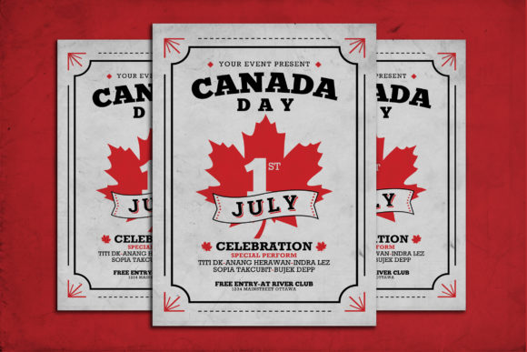 Canada Day Flyer Graphic Print Templates By muhamadiqbalhidayat