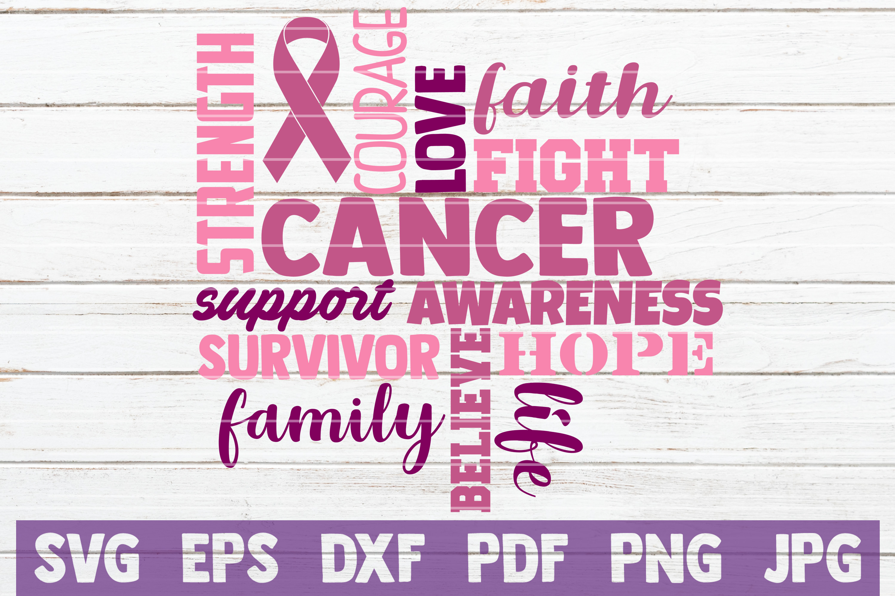 Download Free Cancer Svg Cut File Graphic By Mintymarshmallows Creative Fabrica for Cricut Explore, Silhouette and other cutting machines.