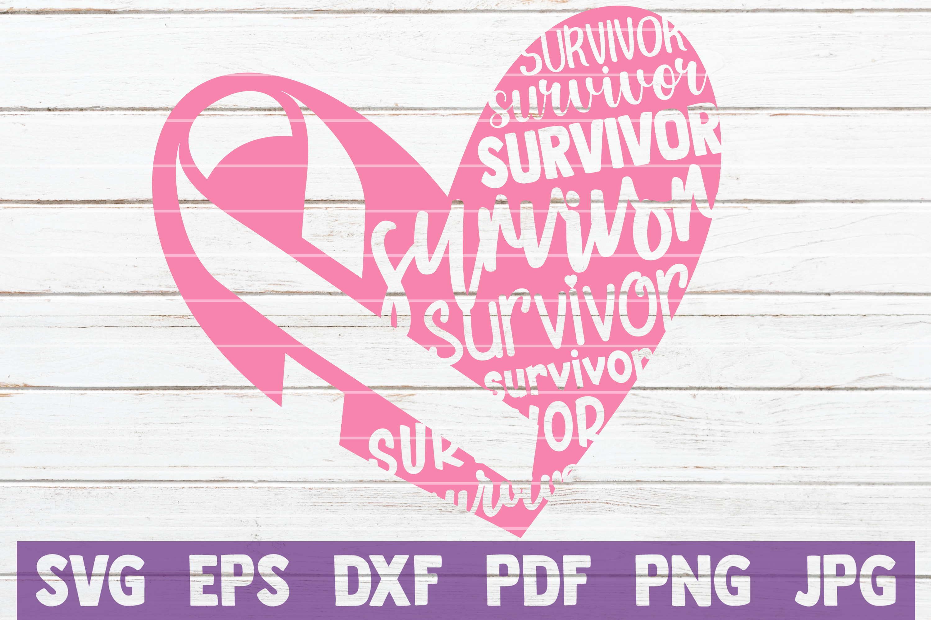 Download Free Cancer Survivor Heart Svg Cut File Graphic By Mintymarshmallows for Cricut Explore, Silhouette and other cutting machines.