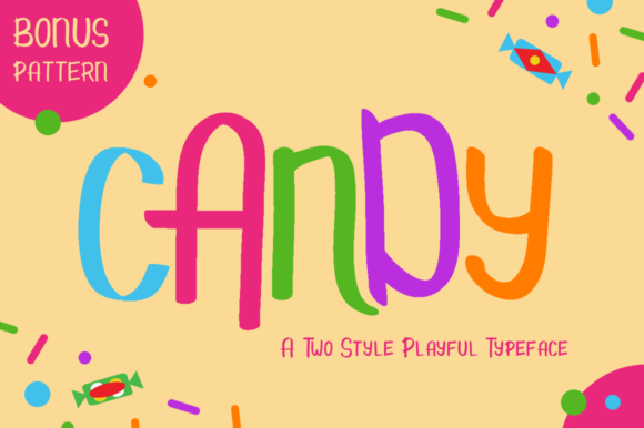 Print on Demand: Candy Display Font By illushvara
