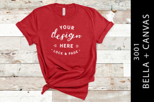 Canvas Red Bella Canvas 3001 Mockup Graphic Product Mockups By lockandpage
