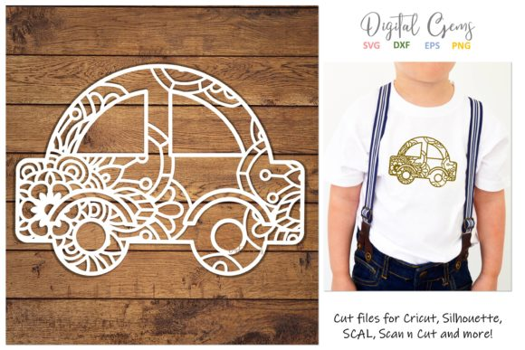 Download Free Car Papercut Design Graphic By Digital Gems Creative Fabrica for Cricut Explore, Silhouette and other cutting machines.