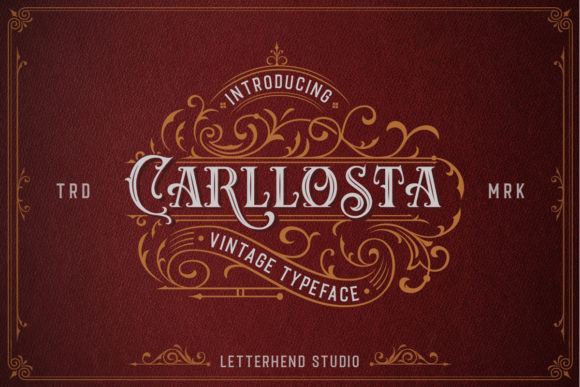 Print on Demand: Carllosta Display Font By letterhend