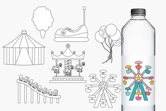 Download Free Carnival Amusement Park Graphic By Revidevi Creative Fabrica for Cricut Explore, Silhouette and other cutting machines.