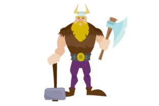 Cartoon Viking Man Craft Design By Creative Fabrica Crafts