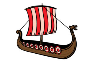 Cartoon Viking Ship Craft Design By Creative Fabrica Crafts