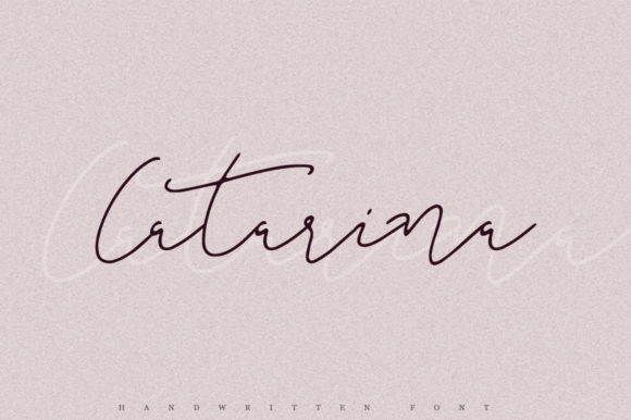 Print on Demand: Catarina Script & Handwritten Font By Katie Holland
