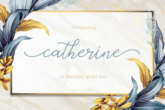 Print on Demand: Catherine Script & Handwritten Font By Uloel Design