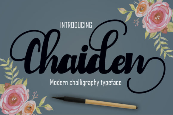 Print on Demand: Chaiden Script & Handwritten Font By Microcreative - Image 1