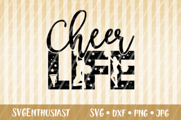 Download Free Cheer Life Cheerleader Svg Cut File Graphic By Svgenthusiast for Cricut Explore, Silhouette and other cutting machines.