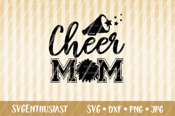 Download Free Cheer Mom Svg Cut File Graphic By Svgenthusiast Creative Fabrica for Cricut Explore, Silhouette and other cutting machines.