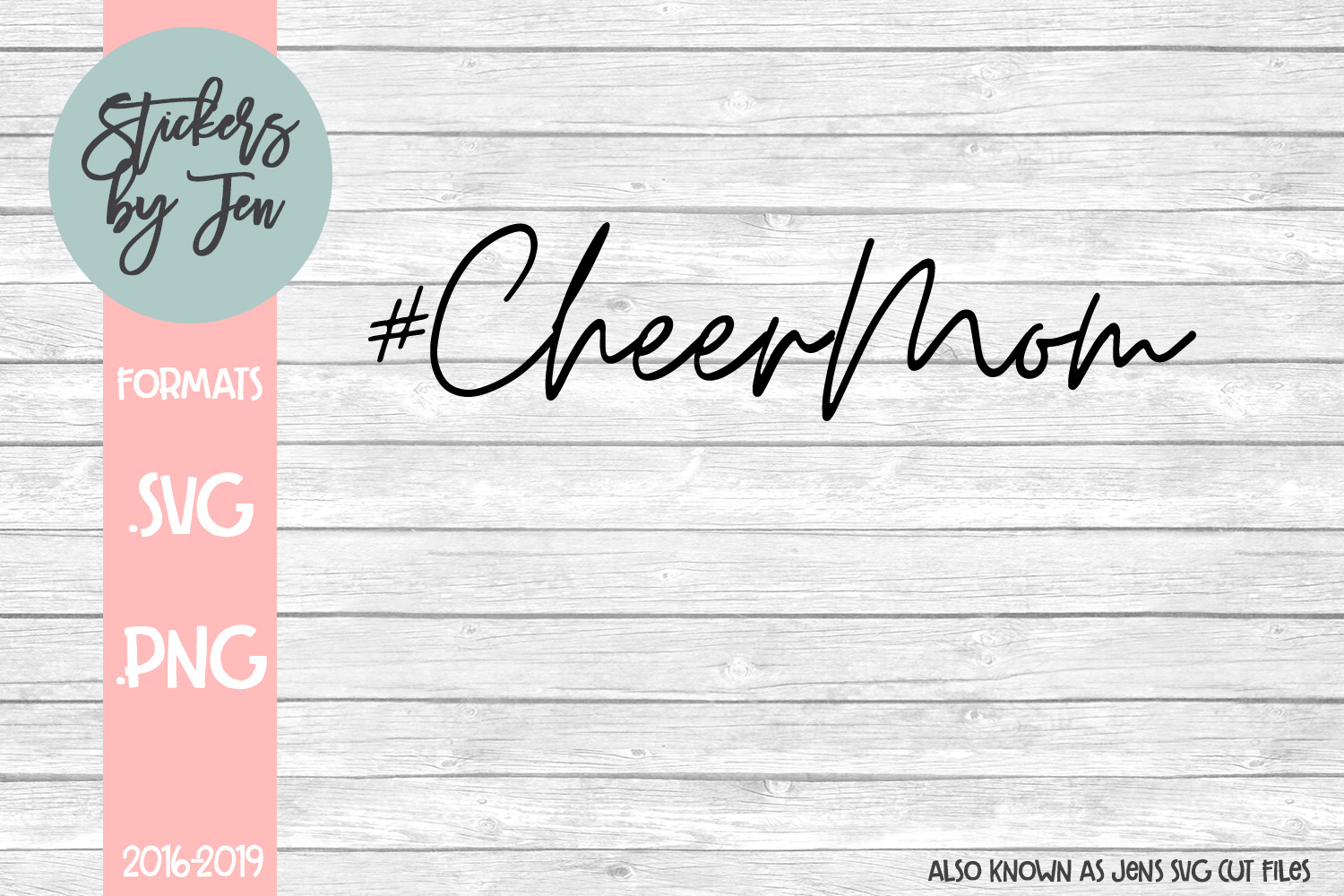 Download Free Cheer Mom Graphic By Stickers By Jennifer Creative Fabrica for Cricut Explore, Silhouette and other cutting machines.