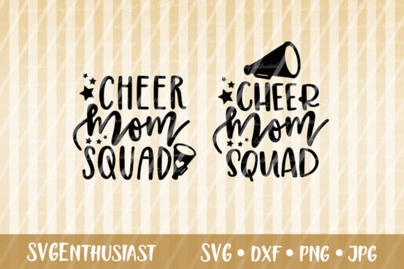 Download Free Cheer Mom Squad Svg Cut File Graphic By Svgenthusiast Creative for Cricut Explore, Silhouette and other cutting machines.