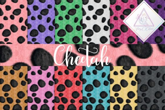 Print on Demand: Cheetah Digital Paper Graphic Textures By fantasycliparts