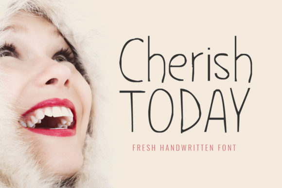 Print on Demand: Cherish Today Display Font By FontCove