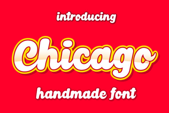 Print on Demand: Chicago Script & Handwritten Font By Lettersiro Co. - Image 1