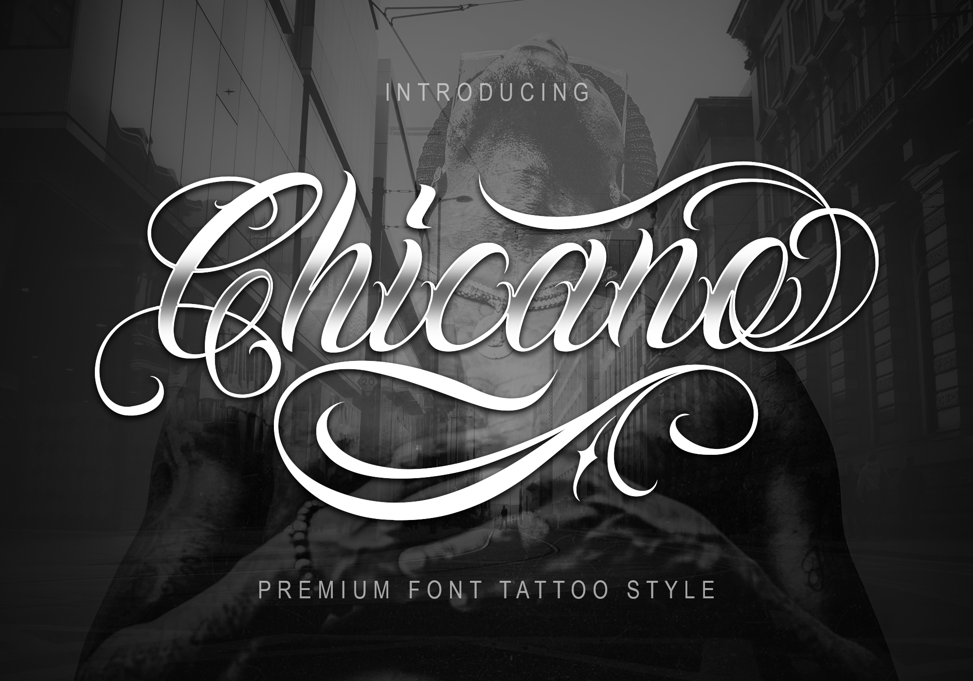 Download Free Chicano Font By Muntab Art Creative Fabrica for Cricut Explore, Silhouette and other cutting machines.
