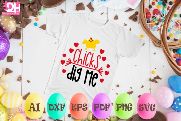Download Free Chicks Dig Me Svg Eps Png Grafico Por Designshavenllc for Cricut Explore, Silhouette and other cutting machines.