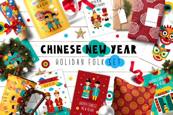 Chinese New Year - Folk Set Graphic By Juliya Kochkanyan