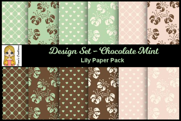 Chocolate Mint - Lily Paper Pack Graphic By Aisne