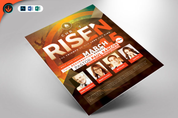 Download Free Christ Is Risen Church Flyer Template Graphic By Seraphimchris SVG Cut Files