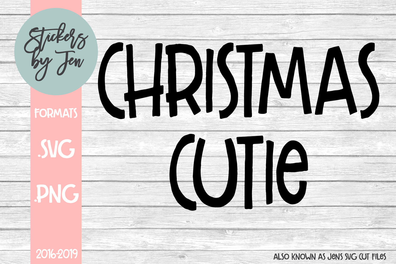 Download Free Christmas Cutie Svg Graphic By Stickers By Jennifer Creative for Cricut Explore, Silhouette and other cutting machines.
