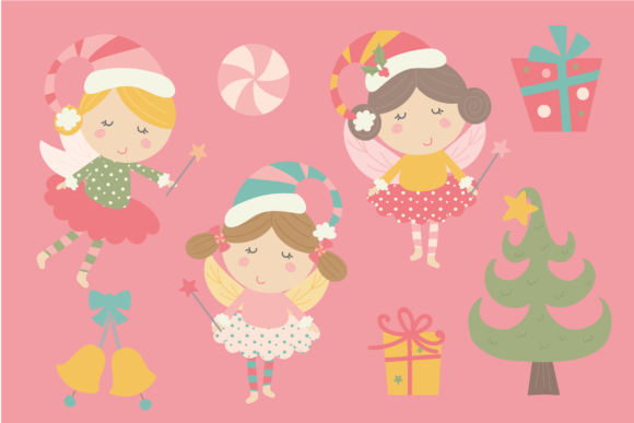 Download Free Christmas Unicorns And Fairies Graphic By Poppymoondesign Creative Fabrica for Cricut Explore, Silhouette and other cutting machines.