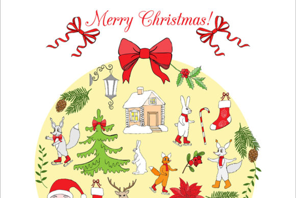 Download Free Christmas In The Forest Clipart Graphic By Natalia Piacheva for Cricut Explore, Silhouette and other cutting machines.