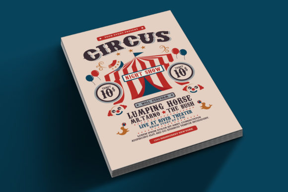 Download Free Circus Carnival Show Flyer Grafico Por Muhamadiqbalhidayat for Cricut Explore, Silhouette and other cutting machines.