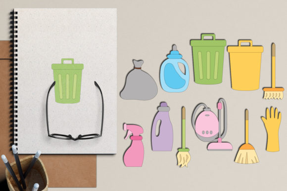 Print on Demand: Cleaning Appliances Graphic Illustrations By Revidevi