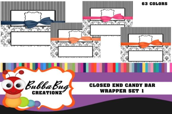 Closed End Candy Wrapper Set 1 Graphic Crafts By BUBBABUG