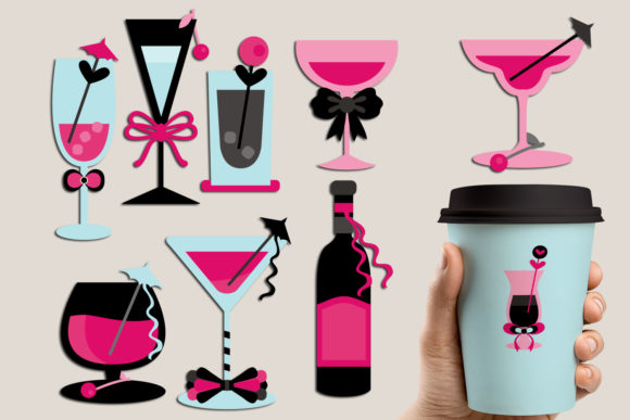 Print on Demand: Cocktail Drinks Graphic Illustrations By Revidevi