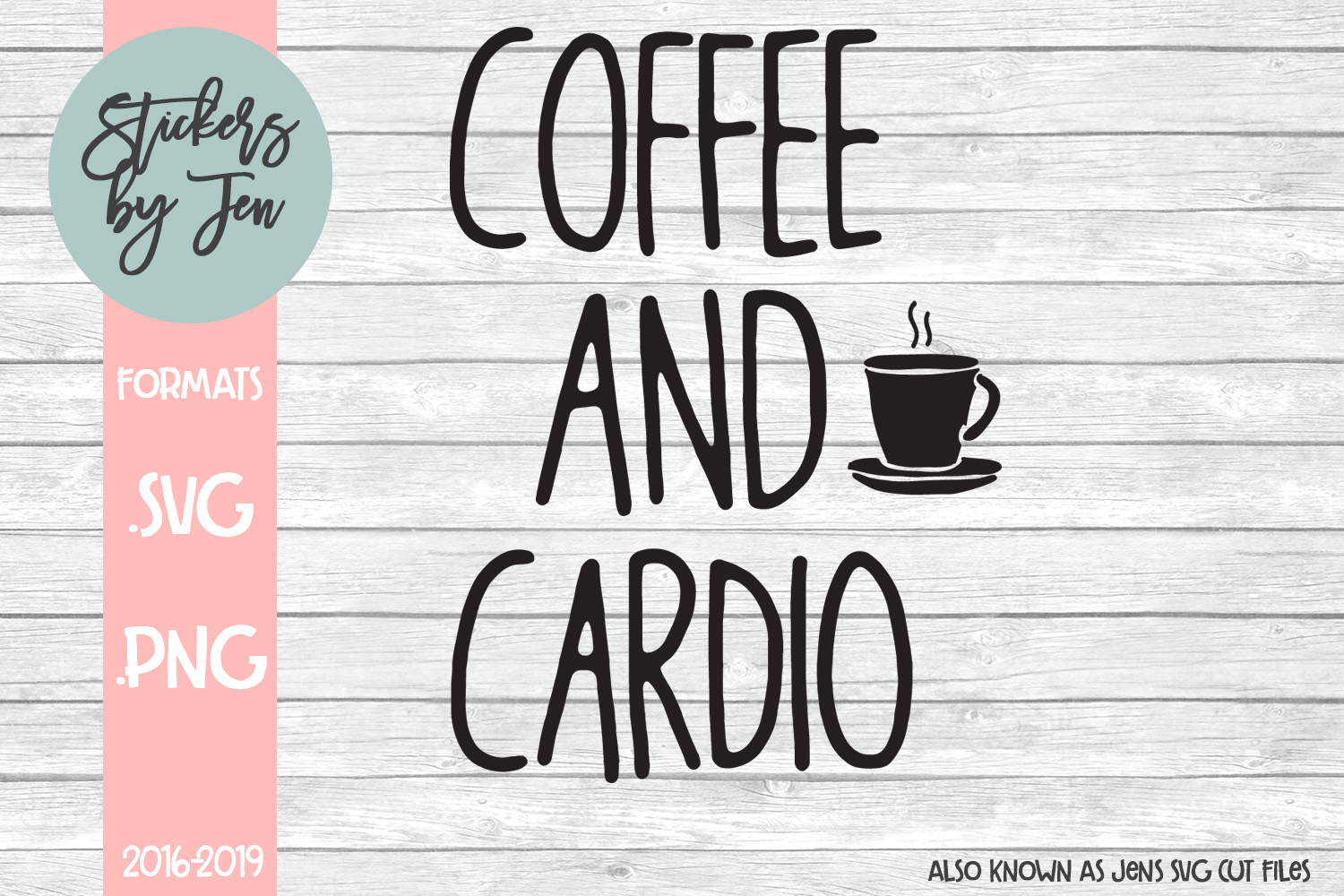Download Free Coffee And Cardio Svg Graphic By Stickers By Jennifer Creative for Cricut Explore, Silhouette and other cutting machines.