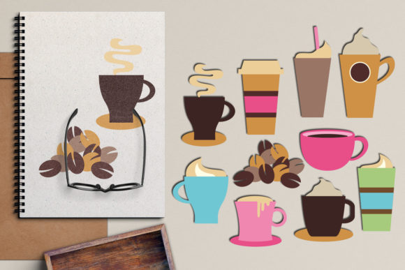 Print on Demand: Coffee Cups and Mugs Gráfico Ilustraciones Por Revidevi