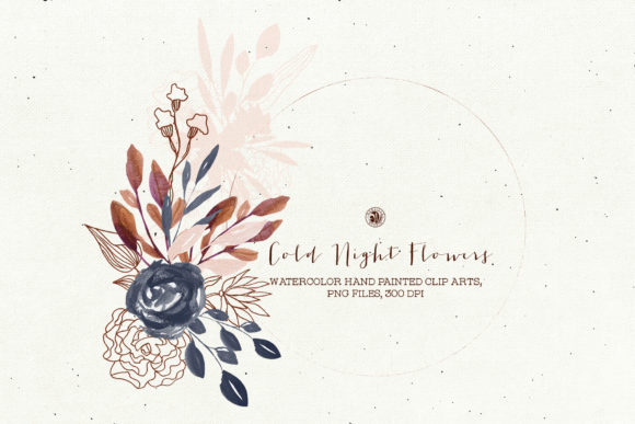 Cold Night Flowers Graphic Illustrations By webvilla - Image 2