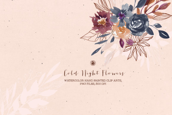 Cold Night Flowers Graphic Illustrations By webvilla - Image 3