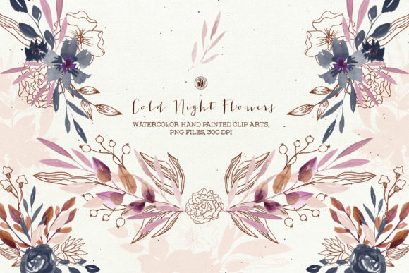 Cold Night Flowers Graphic Illustrations By webvilla - Image 6