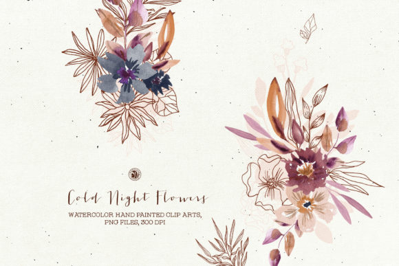 Cold Night Flowers Graphic Illustrations By webvilla - Image 1