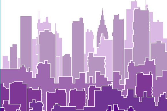 Print on Demand: Color Shades of a Purple Silhouette Graphic Backgrounds By AlexZel