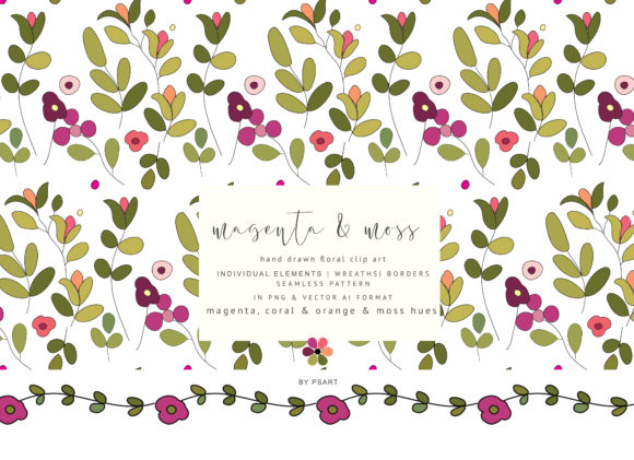 Download Free Colorful Hand Draw Flowers Clipart Graphic By Patishop Art Creative Fabrica for Cricut Explore, Silhouette and other cutting machines.
