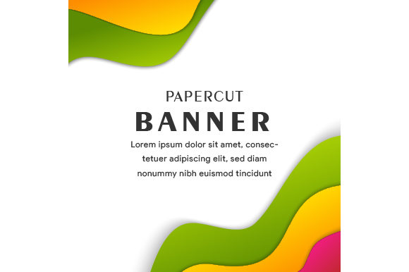 Print on Demand: Colorful Square Liquid Banner Graphic Backgrounds By noory.shopper