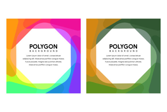 Colorful Bright Polygon Square Banner Graphic By noory.shopper