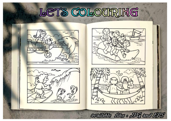 Colouring Book Kids Graphic Coloring Pages & Books Kids By BUNNY BOOK