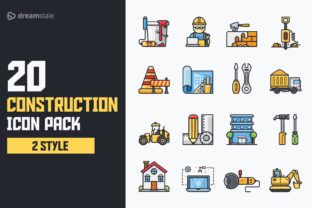 Construction Icon Pack Graphic By Icon Stale